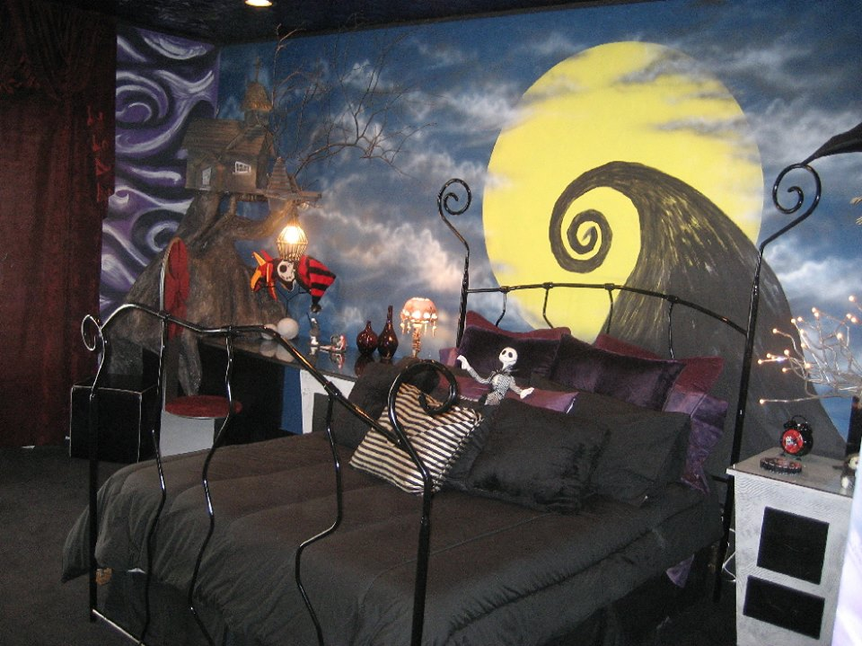 nightmare before christmas themed bedroom horrific finds
