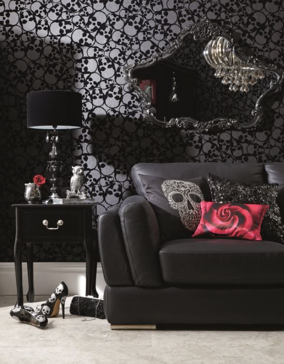 Dark Decor: Gothic Skull Living Room