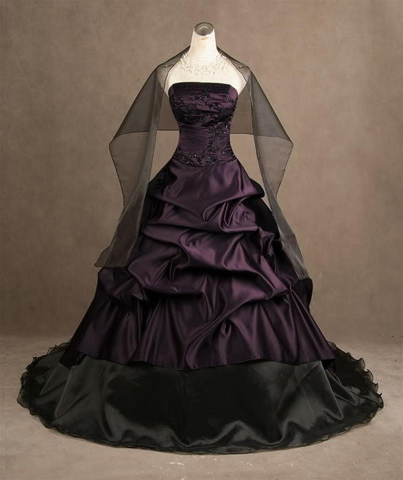 Purple And Black Wedding Dress Horrific Finds