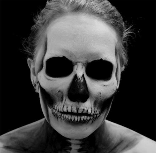 Awesome Halloween Skull Makeup by Sandra Holmbom - Cool Mens Halloween Makeup