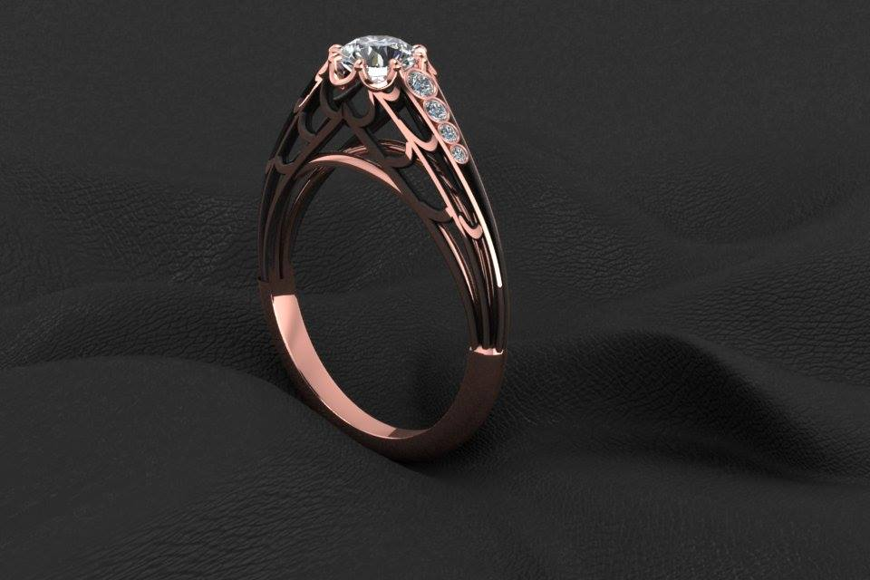 14k Gold Black Widow Diamond Ring Horrific Finds