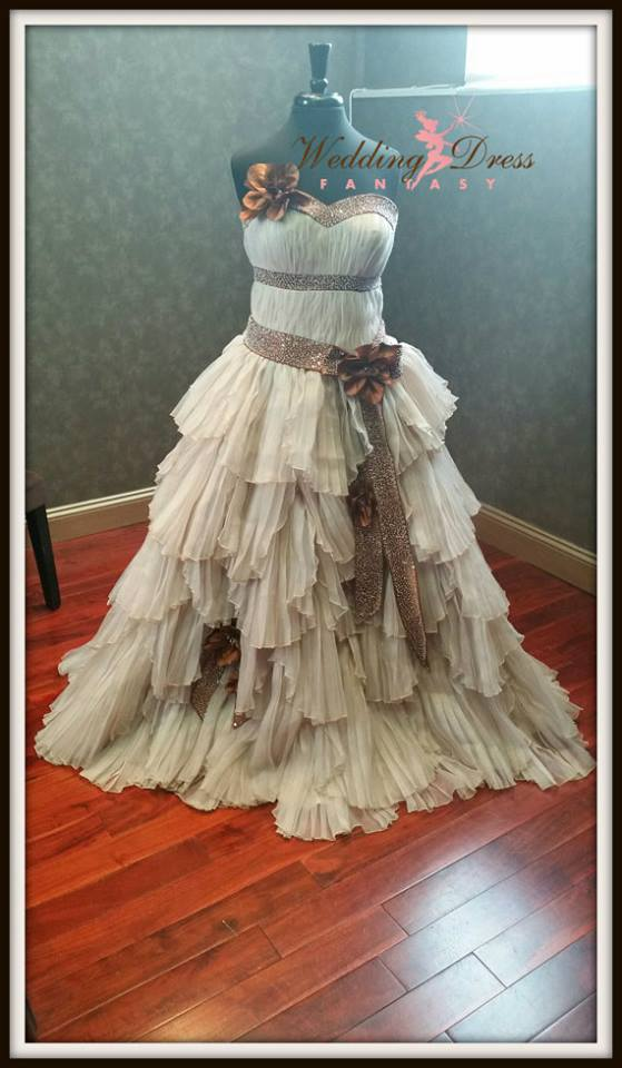 Stunning steampunk wedding dress by weddingdressfantasy 171 horrific